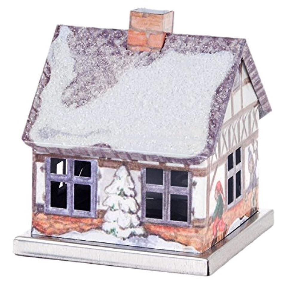 計画的ほこりっぽい居住者メタルミニチュア冬ログキャビンドイツSmoker – Incense Burner