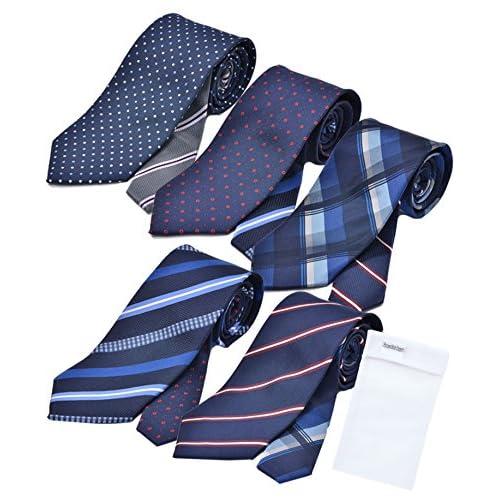 ビジネスマンサポート 洗えるネクタイ 5本セット 洗濯ネット付き u-a1b1c1d1e1