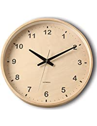 KATOMOKU plywood wall clock ナチュラル 電波時計 連続秒針 km-34LRC φ304mm