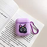 MODISH TECH Airpods Case Cover Cute Cartoon Design with Keychain | Protective Premium Silicone Anti-Lost Dust-Proof & Shock R