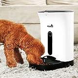 PET WANT ペット用 自動給餌器 中小型 猫ちゃん/犬ちゃん 定時 オート ペット フィーダー 音声録音機能付き 大容量 白4.3L 自動餌やり機 PF-102