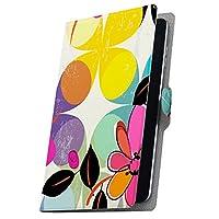 タブレット 手帳型 タブレットケース タブレットカバー カバー レザー ケース 手帳タイプ フリップ ダイアリー 二つ折り 革 花 フラワー カラフル 模様 008472 BNT-791W BLUEDOT ブルードット bnt791w2gx bnt791w2gx-008472-tb