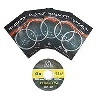 Maxcatch フライフィッシング用テーパードリーダーとティペットセット 9ft 3X / 4X / 5X / 6X フライライン (4X)