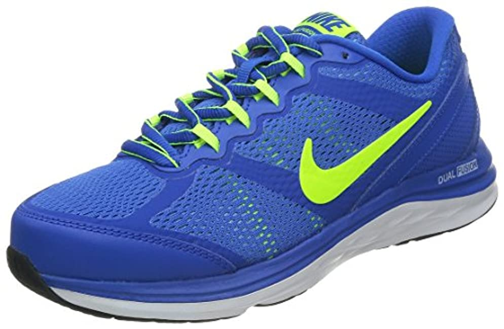 スクワイア従順な辛いNike Kids Dual Fusion Run 3 (GS) Hyper Cobalt/VLT/University Blue/White Running Shoe 5.5 Kids US