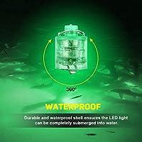 水中 集魚灯 LEDライト フィッシングライト 防水仕様 夜釣り 全5色 (グリーン)