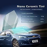 SUNDECK 前面ガラスフィルム 断熱 飛散防止 車専用 クリア フロントウインドシールドフィルム 99%UVカット ライトブルー