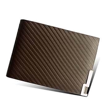 (エクスエイ)X.A カードケース 本革 カード入れ 名刺 定期 免許証 クレジットカード入れ 財布型 磁気消え防止 カードポケット 高級レザー (ブラウンB)