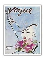 ヴォーグマガジン - 1935年5月、夏の旅行 - ヴィンテージマガジンカバー によって作成された カール・エリクソン - アートポスター - 23cm x 31cm