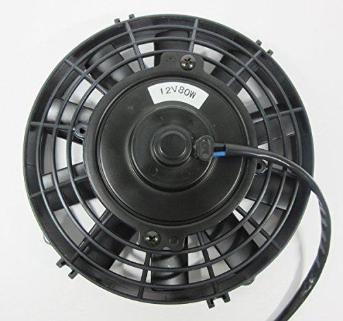 (スリーボックス)ThreeBox 薄型 電動ファン 8インチ ラジエター 用 吹風 プッシュ タイプ 12V 80W 汎用品