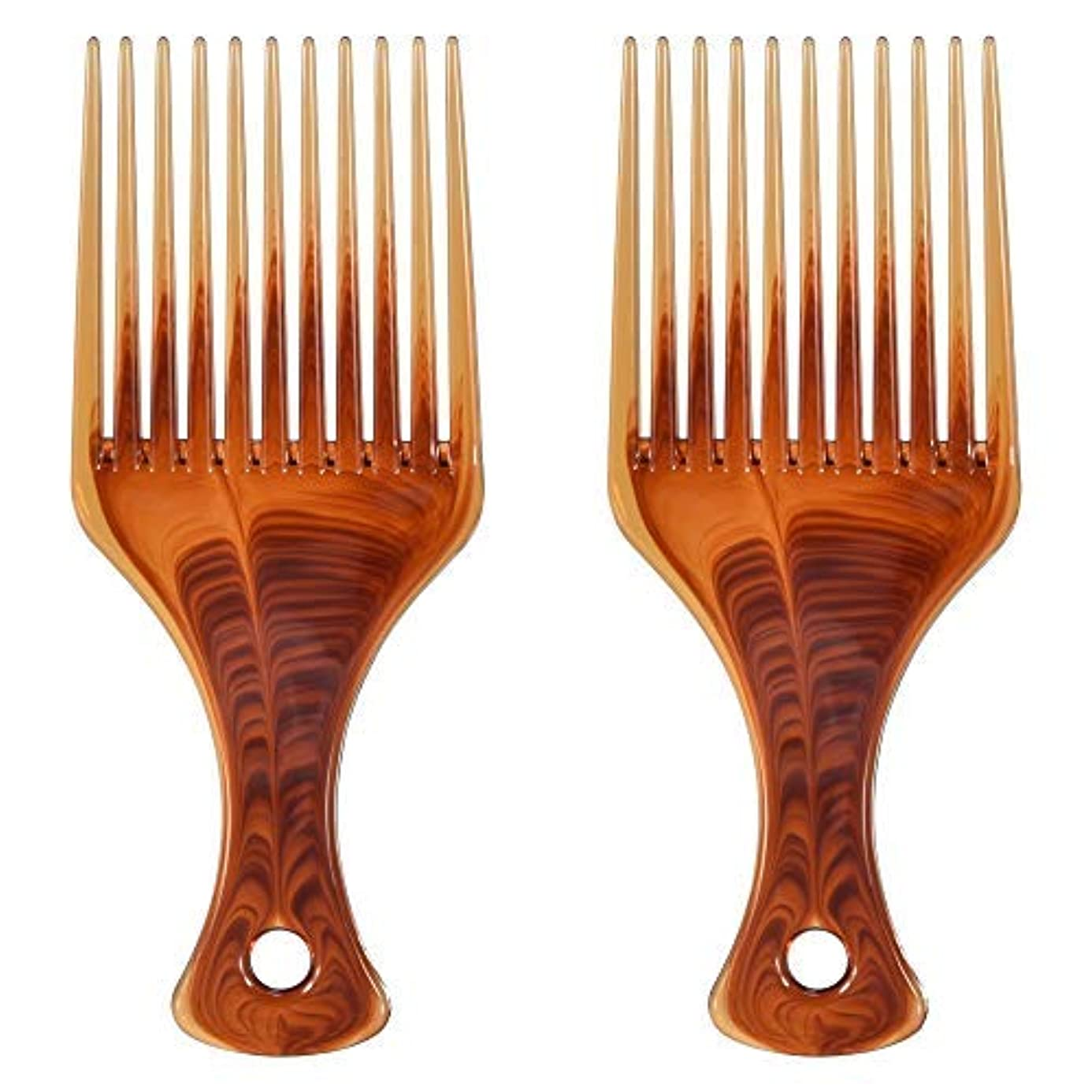 下位アドバンテージハグMosuch Hair Pick, 2pcs Super Smooth Picks Comb Hairdressing Wide Tooth Modeling Big Tooth Comb [並行輸入品]