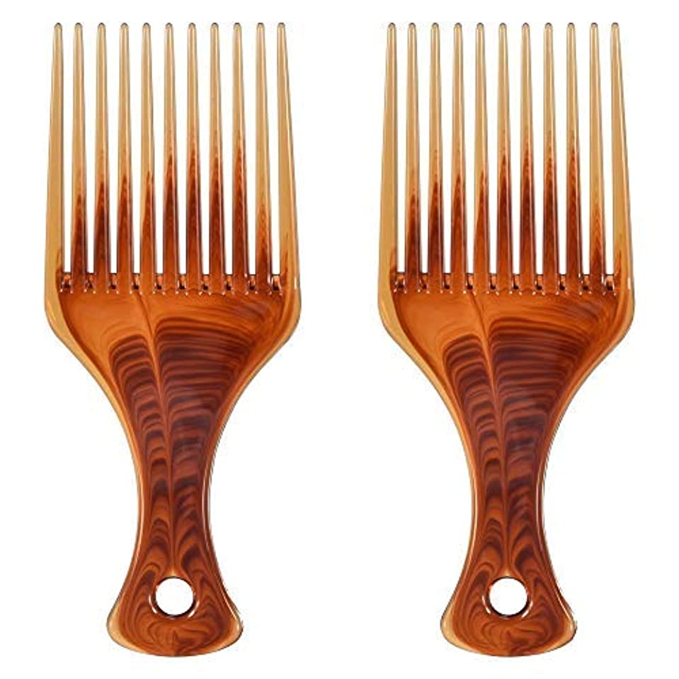 呼びかけるロケット識別するMosuch Hair Pick, 2pcs Super Smooth Picks Comb Hairdressing Wide Tooth Modeling Big Tooth Comb [並行輸入品]