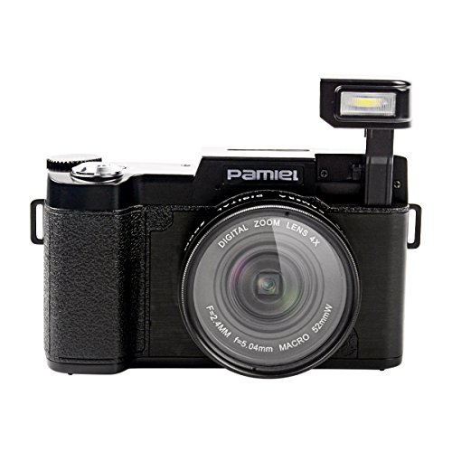 (Ckeyin) ミラーレス一眼カメラ デジタルカメラ 3.0インチTFTディスプレイ 1600万画素 4倍デジタルズーム 0.45X広角レンズとUVフィルター
