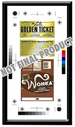 Charlie & The Chocolate Factory - Prop Replica: Framed Golden Ticket