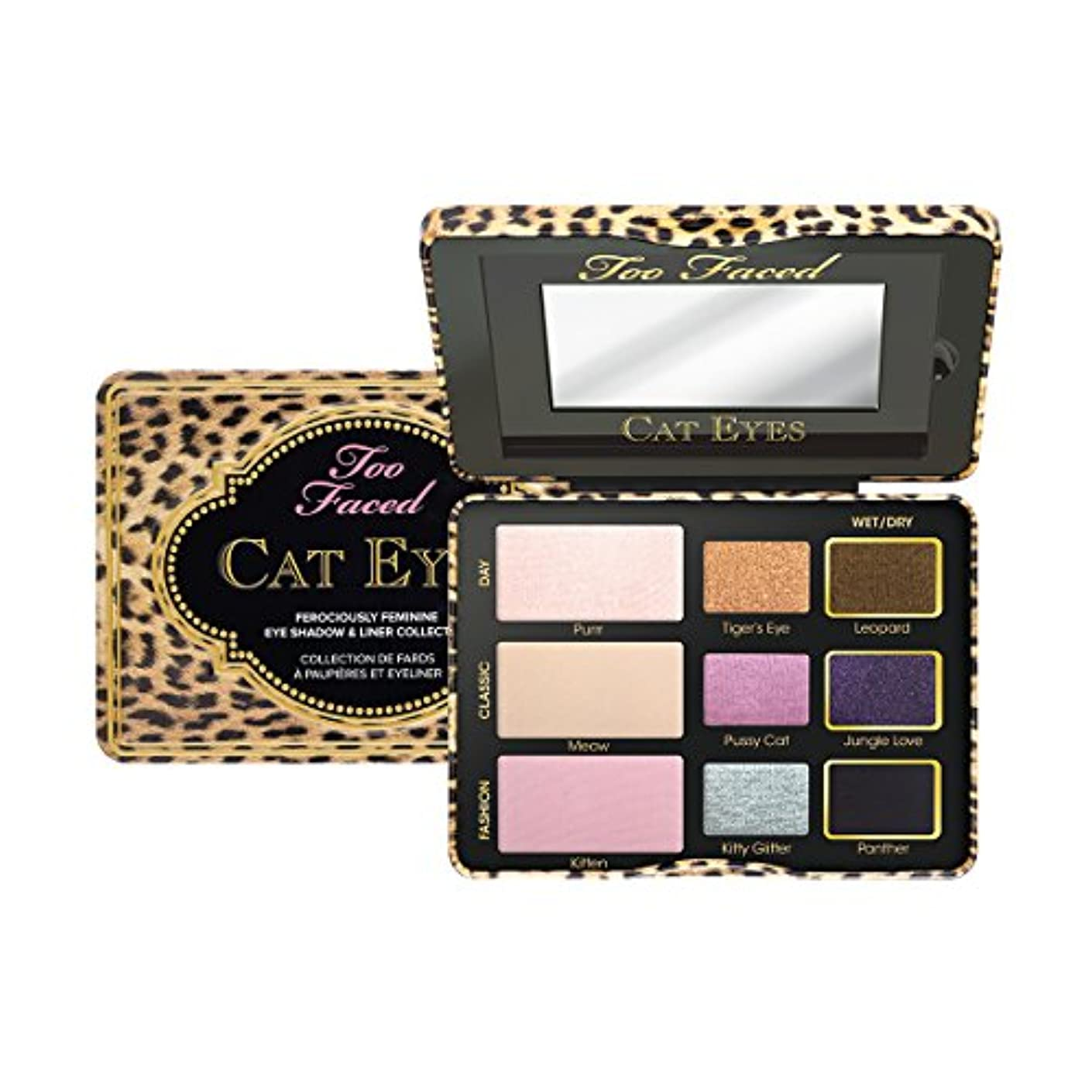 山積みの恥ずかしい尽きるToo Faced Cat Eyes Ferociously Feminine Eye Shadow & Liner Collection (並行輸入品)