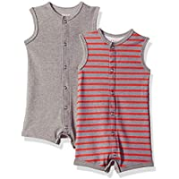 Hanes Unisex-Baby BF1RO2 Ultimate Baby Flexy 2 Pack Sleeveless Rompers Layette Set