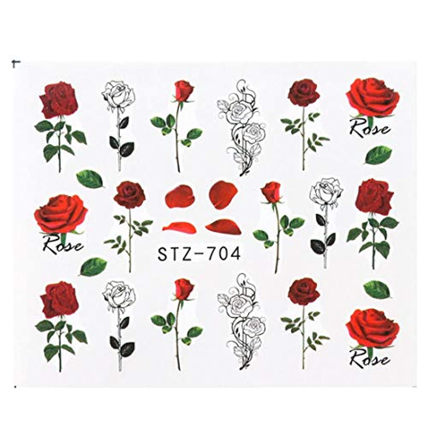 エッセイパーチナシティ気がついてSUKTI&XIAO ネイルステッカー ネイルアート転送タトゥーフラミンゴリーフジェルマニキュア接着剤の装飾、Stz704のための1個の花のスライダーウォーターステッカーデカール
