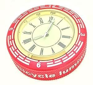 3world 自転車 トップキャップ 取付 用 アナログ ウォッチ SW459 赤