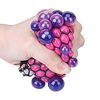 ストレス解消ボール ストレス発散グッズ グレープ ボール スタイル 握ってストレス発散!抗ストレスおもちゃ 色ランダム