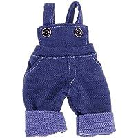 Lovoski  人形 可愛い 布製 ビブ パンツ ズボン 服 1/6スケール BJD SDドルフィードール適用 装飾