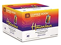 Copper Moon Coffee Hawaiian Hazelnut Single Cup, 40 Count