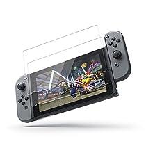 【2枚セット】Nintendo Switch ガラスフィルム Coolreall ニンテンドースイッチ専用液晶保護強化ガラス 超薄0.25mm 9H硬度 99.99% 高透過率 気泡防止 指紋防止