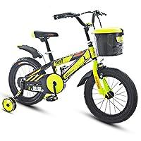 子供用自転車3-5-9歳の男の子自転車14/16/18インチキッズマウンテンバイクイエロー (Size : 16 inches)