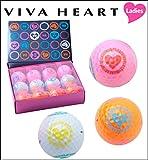 VIVA HEART ビバハート 2017年モデル レディース マルチカラー ゴルフボール VHL002 1ダース(12個入り) 非公認球