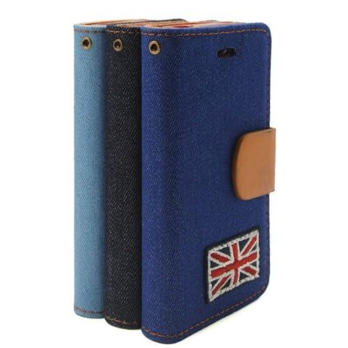 「並行輸入品」  iPhone4/4Sケース  iPhone5/5Sカバー 合成皮革 XCS140149-154 (IPONE5/5S, Light blue)