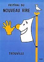 サヴィニャック Raymond Savignac 大判ポストカード「笑いの祭り 1991年」