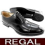 [リーガル] REGAL 811R AL B ストレートチップ ブラック(B) 25.0cm