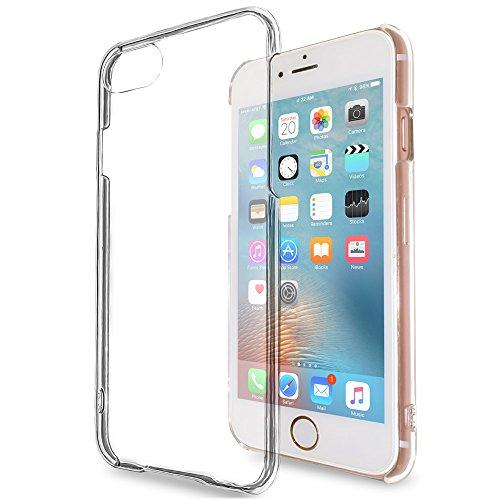 natura(ナチュラ) iPhone 7 ハードケース カバー クリア 透明 液晶保護フィルム 付き 落下防止 用 ストラップ ホール 付き 7pc