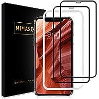 【ガイド枠付き】 【2枚セット】 Nimaso iPhone XR 用 全面保護フィルム 強化ガラス 【フルカバー】保護フィルム 硬度9H/高透過率 ( 6.1 インチ iPhoneXR 用 フィルム )