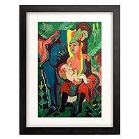 エルンスト・ルートヴィヒ・キルヒナー Ernst Ludwig Kirchner 「The Family」 額装アート作品