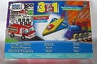[マインツーデザイン]Mine 2 Design 3 in 1 Emergency Vehicle, Airplane & Train Build and Paint Kit 26732 [並行輸入品]