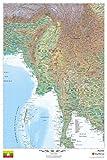 ミャンマー–24x 36インチ–紙–壁マップ