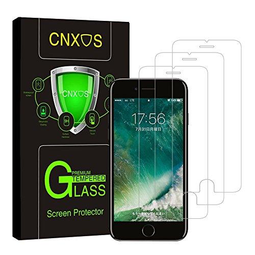 CNXUS 3枚入りiPhone7/8 ガラスフィルム iPhone 8/7 保護フィルム 液晶保護フィルム 強化ガラス 気泡防止 超薄