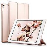 iPad Pro 9.7 ケース クリア ESR iPad Pro 9.7 カバー レザー PU スタンド機能 スリム傷つけ防止 オートスリープ ハード 三つ折タイプ iPad Pro 9.7 インチ スマートカバー (ローズゴールド)