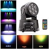 U`King ムービングライト 照明 7LEDs ステージライト RGBW リモコン 9/14チャンネル 音声起動 自走 ディスコ/KTV/バー/パーティー/舞台/演出 用