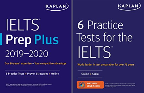 Download IELTS Prep Set: 2 Books + Online (Kaplan Test Prep) 1506245129