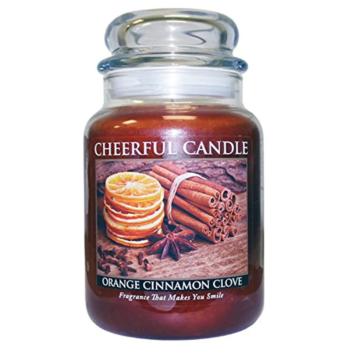 忌み嫌うレーザ北A Cheerful Giver Orange Cinnamon Clove Jar Candle, 24-Ounce by Cheerful Giver [並行輸入品]