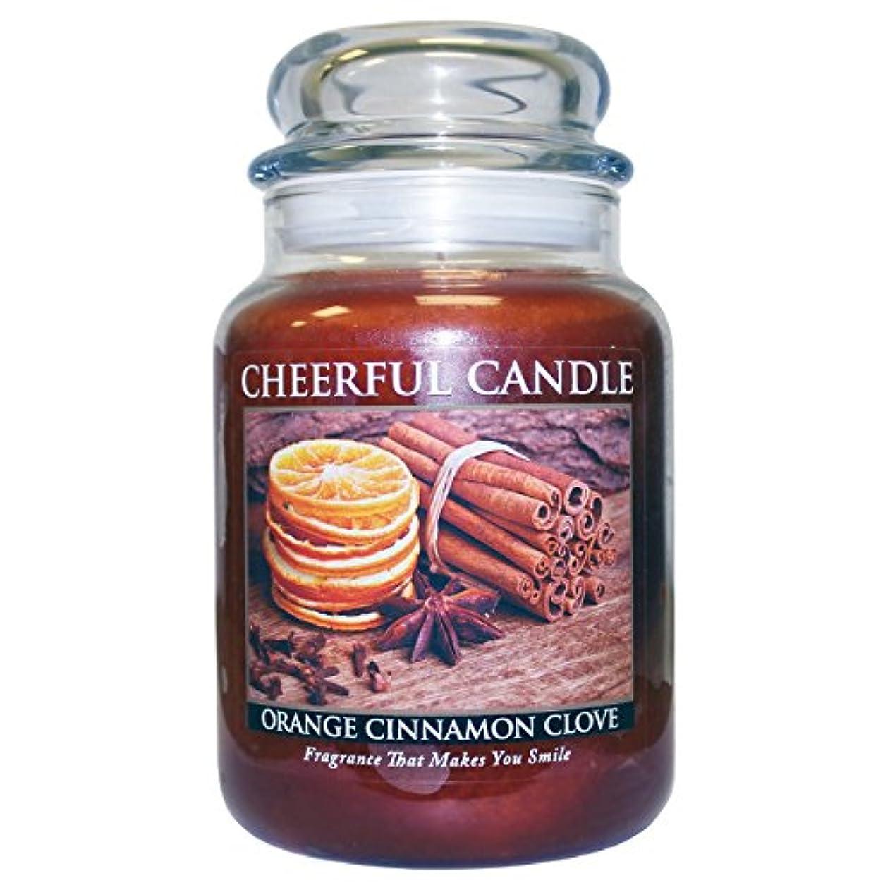 装置豚朝A Cheerful Giver Orange Cinnamon Clove Jar Candle, 24-Ounce by Cheerful Giver [並行輸入品]