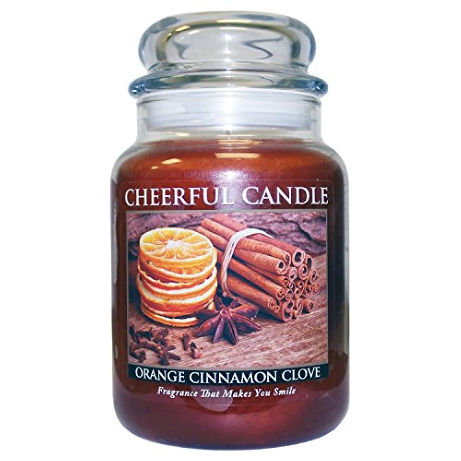 恐ろしいですあなたは診療所A Cheerful Giver Orange Cinnamon Clove Jar Candle, 24-Ounce by Cheerful Giver [並行輸入品]
