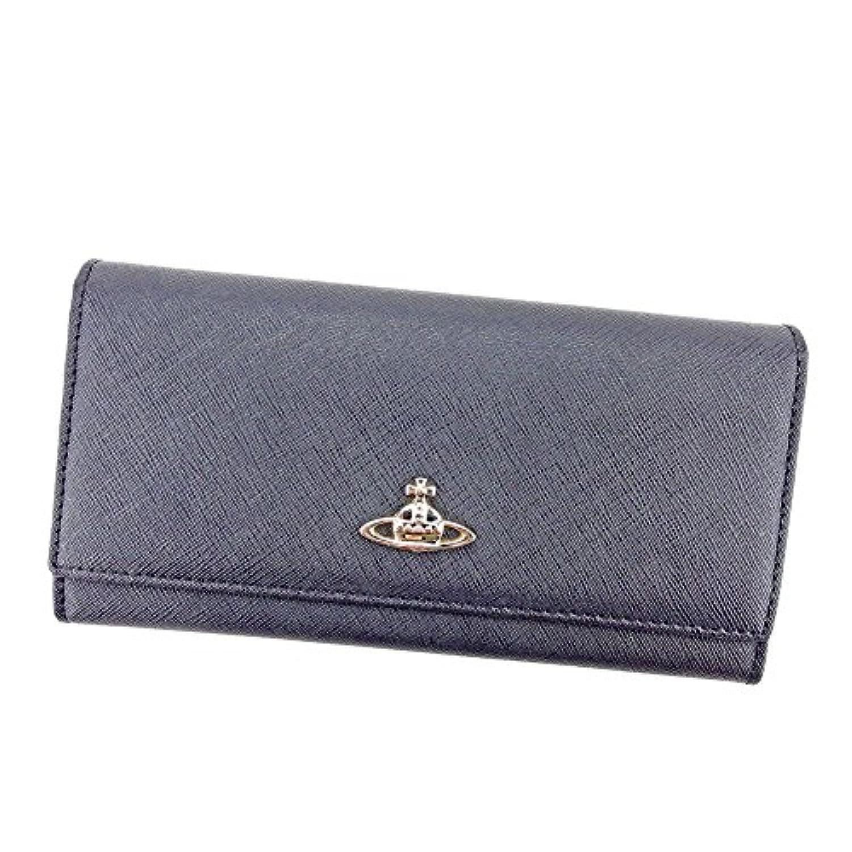 [ヴィヴィアン ウエストウッド] Vivienne Westwood 長財布 ファスナー付き 財布 レディース メンズ 可 オーブ 中古 S829