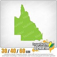 KIWISTAR - Queensland - Australia - State 15色 - ネオン+クロム! ステッカービニールオートバイ