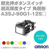オムロン(OMRON) A3SJ-90G1-12SG 形A3S 照光押ボタンスイッチ 超高輝度タイプ (角胴形) (緑) NN