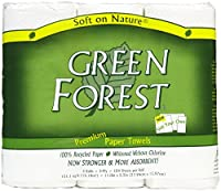 Green Forest 3-Roll Size Your Own Towels, White by Green Forest
