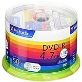 三菱ケミカルメディア Verbatim 1回記録用 DVD-R DHR47J50V1 (片面1層/1-16倍速/50枚)
