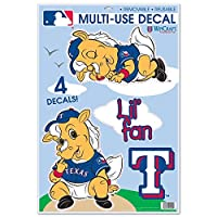 Texas Rangers MLB公認11インチx 17インチStatic Cling Window Car Decal by Wincraft 350282