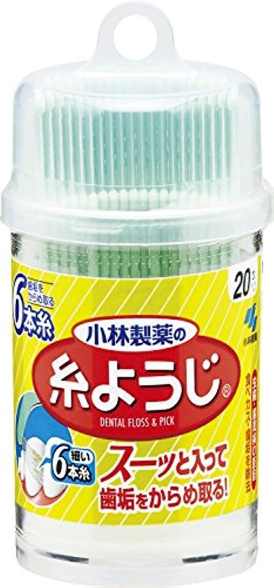 誤観察する野菜小林製薬の糸ようじ  フロス&ピック デンタルフロス 20本卓上容器