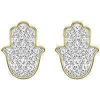 スワロフスキーHamsa Hand pierced earring 5390501